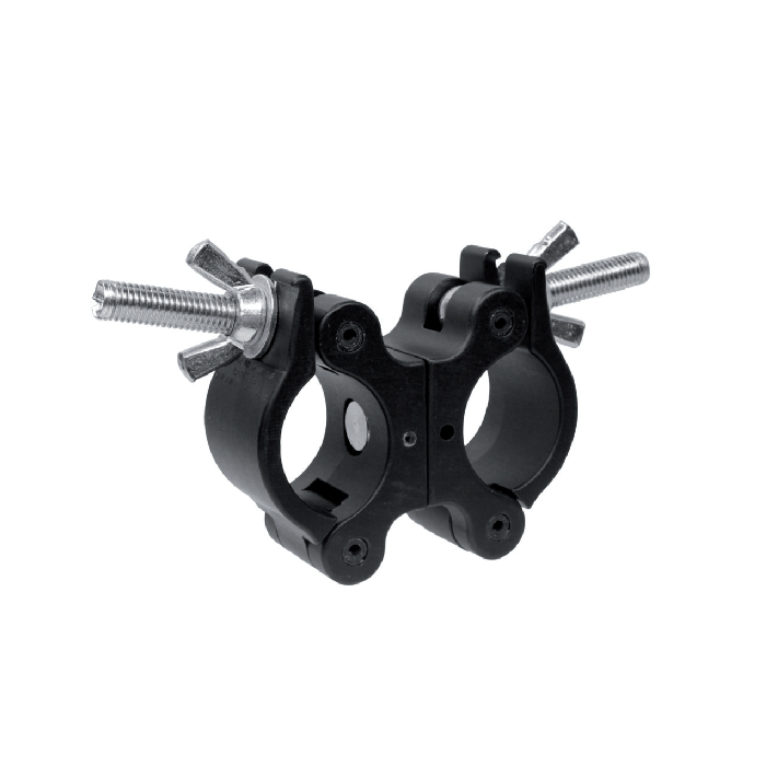 Mega-Coupler, Swivel Steel wingnut, Black Anodized